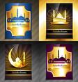 set of attractive brochure of ramadan kareem vector image vector image