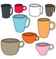 set of beverage cup vector image vector image