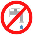 Sign close valve with water vector image