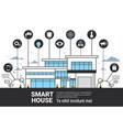 smart house infographics icons set modern home vector image