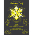 snowflake invitation vector image vector image