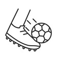 soccer game foot with ball league recreational vector image vector image
