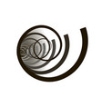 spirals black on white background vector image vector image