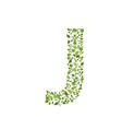 Spring green leaves eco letter J vector image vector image