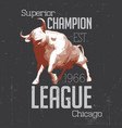 superior chicago champion poster vector image vector image