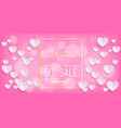 sweet valentines day sale pink background vector image vector image