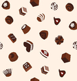 sweets chocolates and cookie pattern vector image vector image