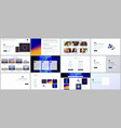 templates for website design minimal presentation vector image