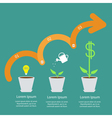 timeline infographic idea bulb seed watering can vector image