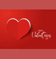 valentines day background with cut out heart vector image