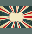vintage retro old background with sunburst rays vector image vector image