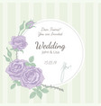 wedding invitation background vector image