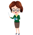 Woman Teacher vector image