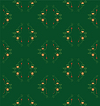 seamless patterns on green background vector image