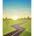 Asphalt Road Over Field vector image
