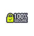 100 secure grunge icon badge or button