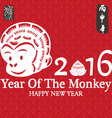 2016 New Year Of The MonkeyHappy New YearChinese vector image vector image