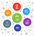 7 traditional icons vector image vector image