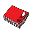 A file folder is placed vector image vector image