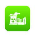 atomic reactor icon green vector image vector image