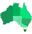 Australia contour map vector image vector image