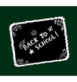 Back to school sketch frame vector image