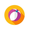 Beach Ball flat icon with long shadow vector image vector image