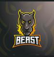 beast head logo vector image vector image