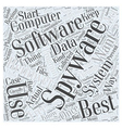 Best Free Spyware Remover Word Cloud Concept vector image vector image