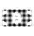 bitcoin cash banknote halftone icon vector image