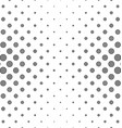 Black and white circle pattern background vector image vector image