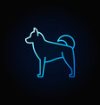 blue dog linear concept icon vector image