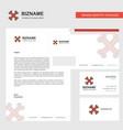 bones business letterhead envelope and visiting vector image