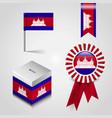 cambodia flag design vector image vector image