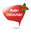 Christmas Speech Bubble vector image vector image