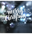 Christmas text design on bokeh background vector image vector image