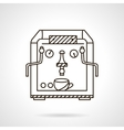Classic coffee machine flat line style icon vector image