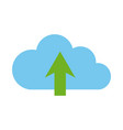 cloud computing upload data storage isolated flat vector image