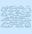 clouds sketch decorative sky elements weather vector image