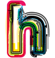 Colorful Grunge font LETTER h vector image vector image