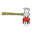 Comic cartoon bloody axe