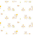 cute bear and duck friends seamless pattern vector image vector image