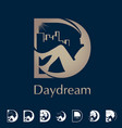 d letter based symbol daydream concept vector image