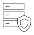 database protection thin line icon server vector image vector image