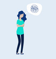 depressed woman concept female feels depression vector image vector image