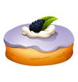 Doughnut with blackberry flovor vector image vector image