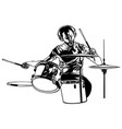 drummer sketch drawing vector image vector image