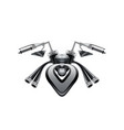 extreme naked motorcycle concept vector image