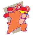 Fast Bear vector image
