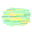 Fitness exercise sport and healthy lifestyle vector image